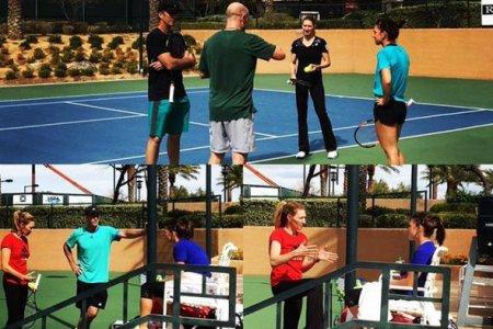Халеп, Агасси и Граф тренируются вместе в Лас-Вегасе